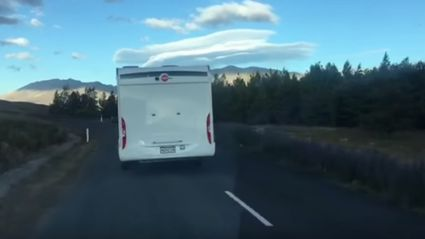 Shocking footage of erratic campervan driver in the South Island
