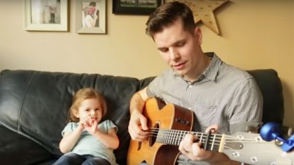 This adorable daddy daughter duet will melt your heart!