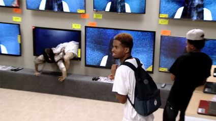 This 'Ring' prank in a TV store is the stuff of nightmares!