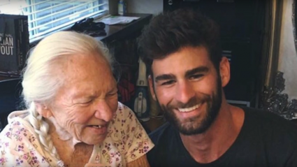 This selfless young man 'adopted' his ailing 89-year-old neighbour... and her cat!