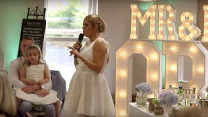 Maid of honour parodies 'Ice Ice Baby' with epic wedding toast