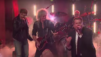 James Corden and Adam Lambert's Queen themed sing-off will totally rock you
