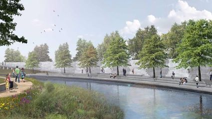 Artist's impression of the Canterbury Christchurch National Earthquake Memorial which is being unveiled today.