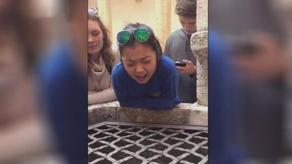 This teen singing Leonard Cohen's 'Hallelujah' into a well is BEAUTIFUL!
