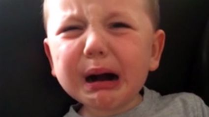Hilarious moment five-year-old boy throws massive tantrum because he can't go to the pub