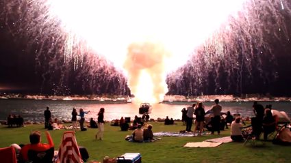 7000 fireworks accidentally go off all at once!