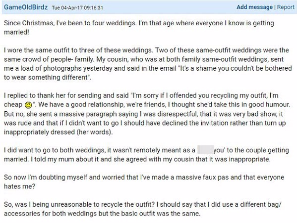 Is this the most unreasonable bride ever?