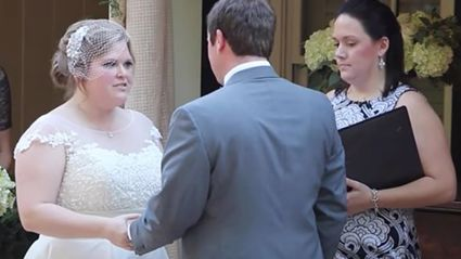 Jaw-dropping moment couple's wedding is ruined by their celebrant casually vomiting