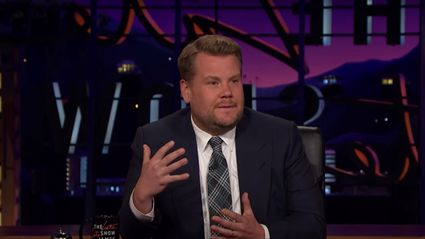 James Corden chokes up during emotional message about Manchester attack
