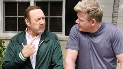 Watch Gordon Ramsay and Kevin Spacey's hilarious 'swear off'