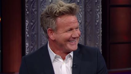 Gordon Ramsay critiques peanut butter sandwich and reveals he 'told' the Queen to 'f*** off' in hilarious Late Show interview