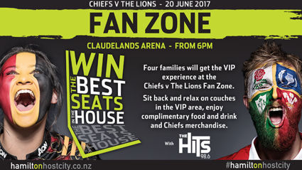Waikato: Win The Best Seats With Chiefs V The Lions Family Fan Zone