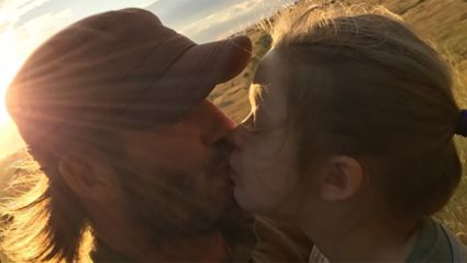 David Beckham sparks controversy after kissing his daughter on the lips