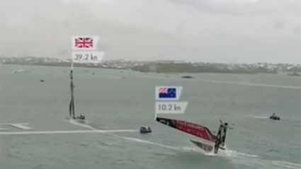 Team New Zealand suffers capsize crash during America's Cup race