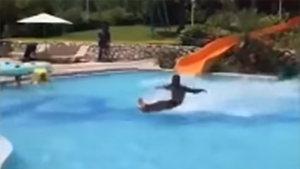 Watch: Water Slide Guy has the world wowed