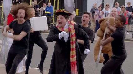 James Corden takes Mary Poppins musical to the streets!