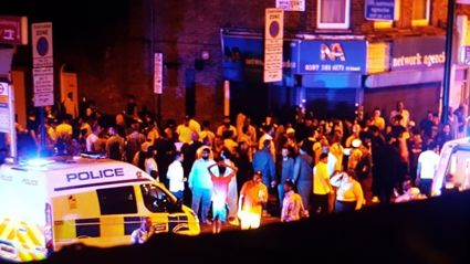 A van has driven into group of people near mosque in London
