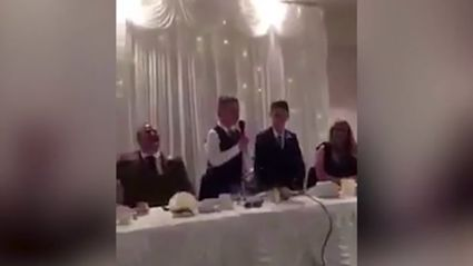 These two 11-year-old step-brothers have just delivered the most hilarious 'Best Man' speech