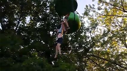 Girl survives horrifying 8m fall from amusement park ride