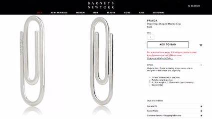 Prada shocks shoppers with single 'paper clip' worth $247
