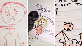 Parents share the hilariously creepy drawings their kids created