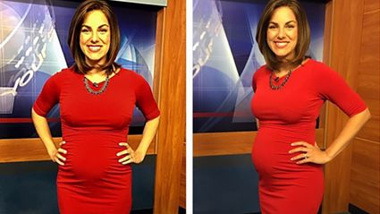 Pregnant news presenter hits back after viewer calls her 'disgusting'