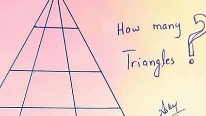 This brainteaser is baffling the Internet. How many triangles can you see?