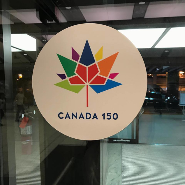 We have arrived and it's celebration time in Canada #150