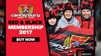 Canterbury Rugby:  Red & Black Membership 2017!