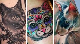 These cat-lovers have expressed their affection for their feline friends in the most permanent way