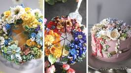 These insanely beautiful floral cakes look too good to eat