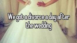 Newlyweds reveal the worst thing that happened to them the day after their wedding