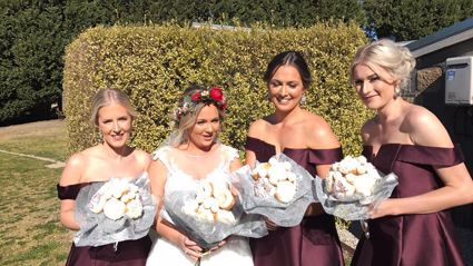 This Aussie bride's bouquet is majorly dividing the internet...