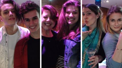 Pics from The Hits' photo-booth at the NZ Premiere of Will & Grace