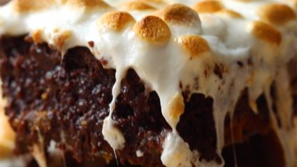 Caramel s'mores brownies recipe