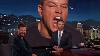 Watch Matt Damon hilariously ruin Chris Hemsworth's interview
