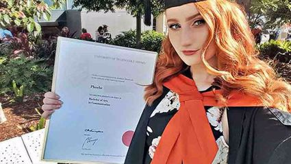 Phoebe has proved she is anything but stupid after she achieved her bachelor's degree . Photo / Facebook