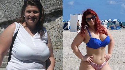 This woman's 'Before & After' photos prove that happiness doesn't have a size