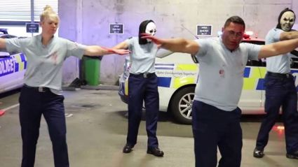 The NZ police are back with a hilarious Halloween 'Thriller' dance to 'Poi E'