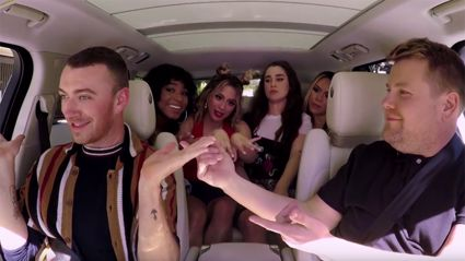 Sam Smith joins Fifth Harmony and James Corden in the latest Carpool Karaoke