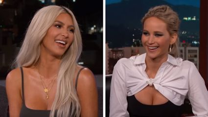 Watch Jennifer Lawrence hilariously grill Kim Kardashian during interview