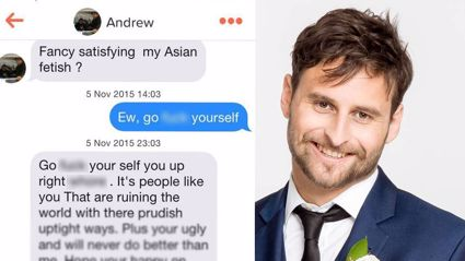 The messages sent by Andrew on the dating app Tinder were supplied to the NZ Herald.