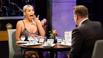 Why James Corden forced Kim Kardashian to drink a sardine smoothie