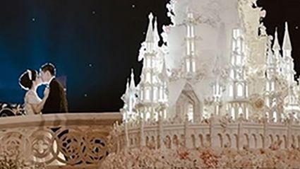 This insanely large wedding cake will absolutely blow your mind!
