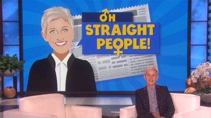 Ellen DeGeneres playfully pokes fun at straight people for their ridiculous behaviour