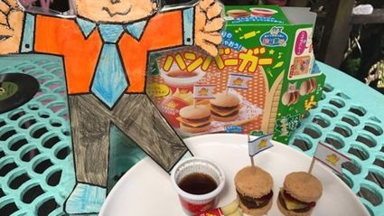 Try it Out Tuesday  - Mini Burgers for our mate Flat Stanley