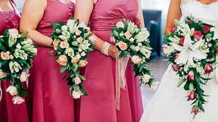 The weird reason bridesmaids wear matching dresses