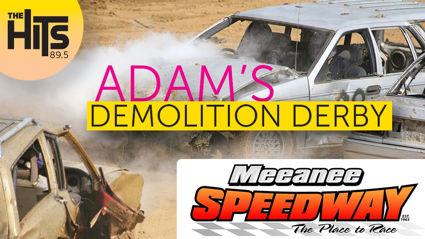 Win! Race against Adam in a Demo Derby!