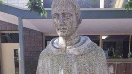 Catholic school forced to cover statue because of its 'unfortunate' design
