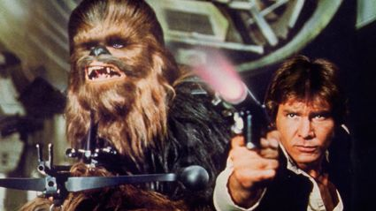 The actor who plays Chewbacca is seriously good looking!